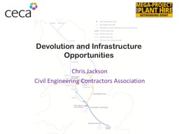 Devolution and Infrastructure Opportunities