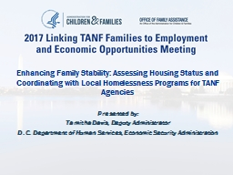 Enhancing Family Stability: Assessing Housing Status and Coordinating with Local Homelessness Progr