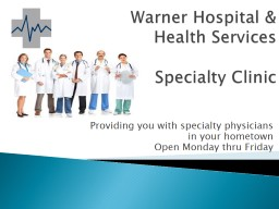 Warner Hospital &  Health Services
