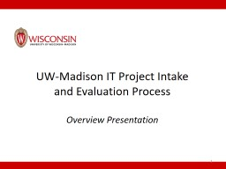 UW-Madison IT Project Intake