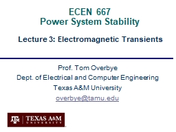 ECEN 667  Power System Stability