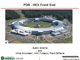 PDR - HEX Front End Sushil Sharma