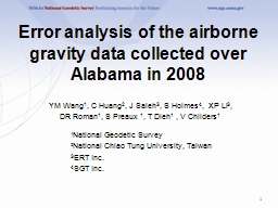 Error analysis of the airborne gravity data collected over Alabama in 2008