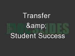 Transfer & Student Success