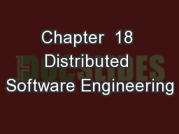 Chapter  18 Distributed Software Engineering