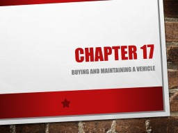 Chapter  17 Buying  and