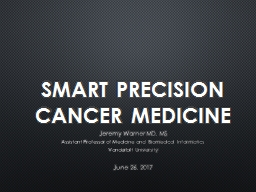 SMART Precision Cancer Medicine