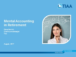 Mental Accounting  in Retirement
