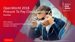 OpenWorld 2018 Procure To Pay Cloud Solutions