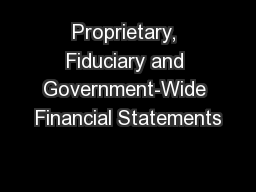 Proprietary, Fiduciary and Government-Wide Financial Statements
