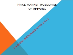 Price Market Categories