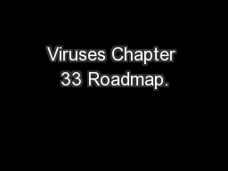 Viruses Chapter 33 Roadmap.