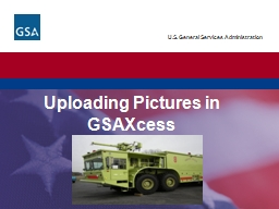 Uploading Pictures in  GSAXcess