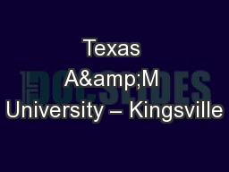 Texas A&M University – Kingsville