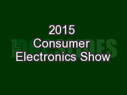 2015 Consumer Electronics Show