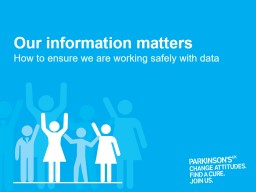 Our information matters How to ensure we are working safely with data