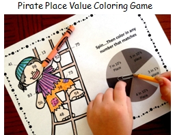 Pirate Place Value Coloring Game
