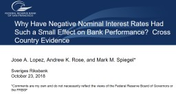 Why  Have Negative Nominal Interest Rates Had Such a Small Effect