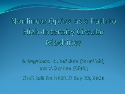 Nonlinear Optics as a Path to High-Intensity Circular Machines