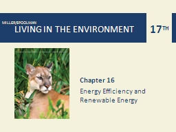 Chapter 16 Energy Efficiency and