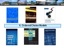 6. Ordered Choice Models