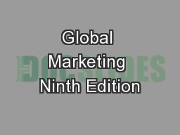 Global Marketing Ninth Edition