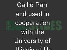 Anatomy Quiz Submitted by Callie Parr and used in cooperation with the University of Illinois at Ur