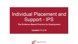 Individual Placement and Support - IPS