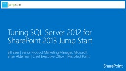Tuning SQL Server 2012 for
