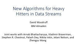 An Optimal Algorithm for Finding Heavy Hitters PowerPoint PPT Presentation