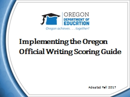 Implementing the Oregon