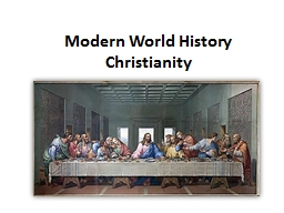 Modern World History Christianity