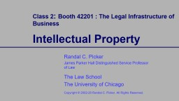 Class 2 :  Booth 42201 : The Legal Infrastructure of Business PowerPoint PPT Presentation