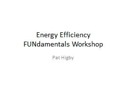 Energy Efficiency  FUNdamentals PowerPoint PPT Presentation