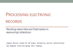 Processing electronic records