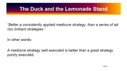 The Duck and the Lemonade Stand
