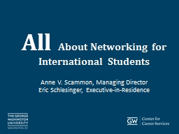 All  About Networking for International Students