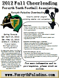 Our organization, formerly West Forsyth Youth Football Association, was founded in 2007. We are ple