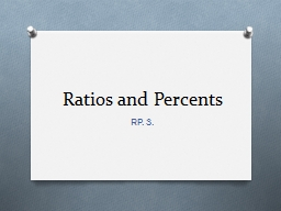 Ratios and  Percents   RP. 3.