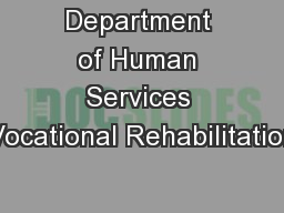 Department of Human Services Vocational Rehabilitation