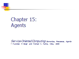 Chapter 15: Agents Service-Oriented Computing: