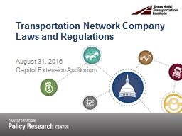 Transportation Network Company Laws and Regulations