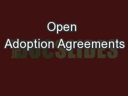 Open Adoption Agreements