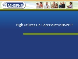 High Utilizers in  CarePoint