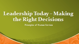 Leadership Today � Making the