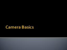 Camera Basics Canon Rebel