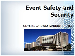 Event Safety and Security