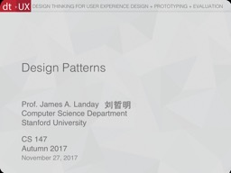 Design Patterns November 27, 2017
