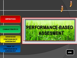 PERFORMANCE-BASED ASSESMENT