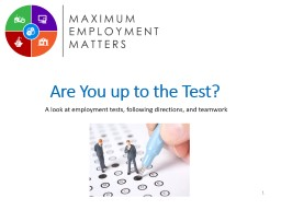 Are You  up  to the Test?